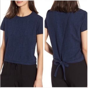 Madewell | Verse Tie Back Navy Top